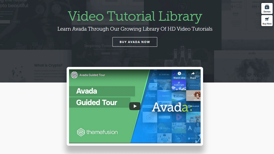 avada - video tutorial library